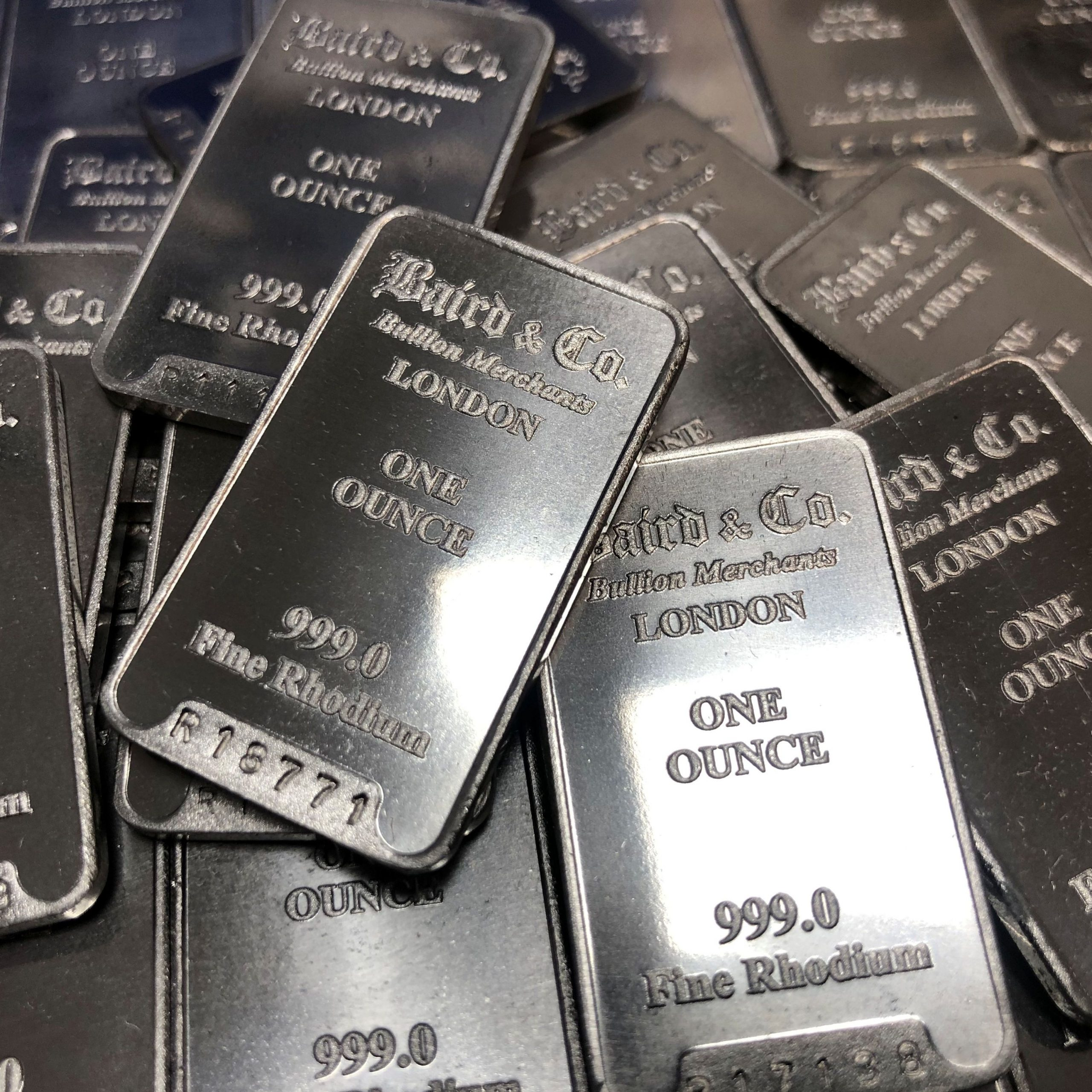 Vermillion Enterprises buys and sells Rhodium Bullion. Rhodium Bars, Rounds, and Coins. No collection is too large or too small. Serving Brooksville, Crystal River, Dade City, Clearwater, Floral City, Gainesville, Holiday FL, Homosassa, Hudson FL, Inverness FL, Land O Lakes, Lecanto, Lutz, Odessa FL, Palm Harbor, Spring Hill, Tampa FL, Tarpon Springs, Wesley Chapel, Zephyrhills